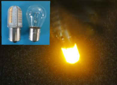 382 Compact silicon LED orange flasher bulb Fog