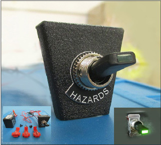 Toggle Switch Hazard KitNeg for 60's Cars