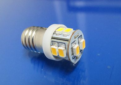 BA9ES Warm White dashboard lighting bulb Pos